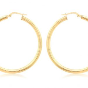 Plain Gold Hoops