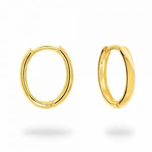 9k Plain Gold Huggies